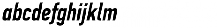 PF DIN Text Comp Pro Medium Italic Font LOWERCASE