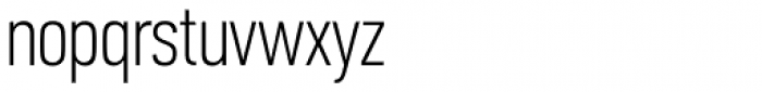 PF DIN Text Comp Pro Thin Font LOWERCASE