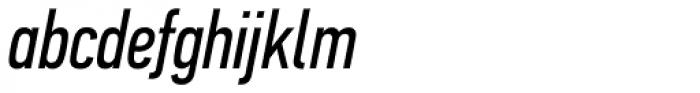 PF DIN Text Comp Std Italic Font LOWERCASE