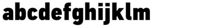 PF DIN Text Cond Pro ExtraBlack Font LOWERCASE