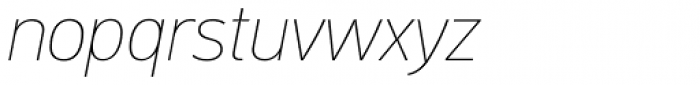 PF DIN Text Pro ExtraThin Italic Font LOWERCASE