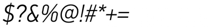 PF DIN Text Pro Light Italic Font OTHER CHARS