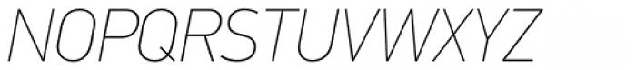 PF DIN Text Std ExtraThin Italic Font UPPERCASE