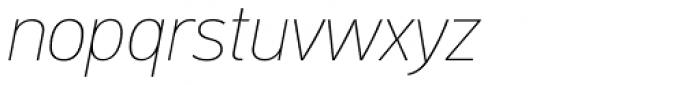 PF DIN Text Std ExtraThin Italic Font LOWERCASE