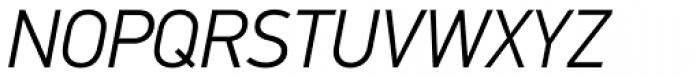 PF DIN Text Std Light Italic Font UPPERCASE