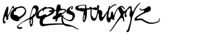 PF DaVinci Script Pro Inked Font UPPERCASE