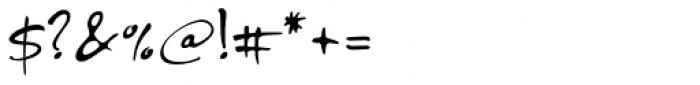 PF DaVinci Script Pro Font OTHER CHARS