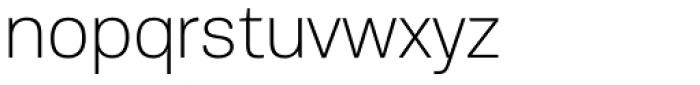 PF Encore Sans Pro Thin Font LOWERCASE