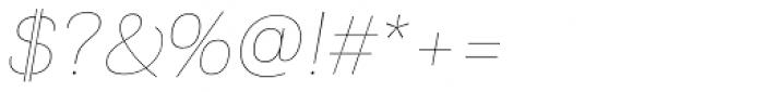 PF Encore Sans Pro UltraThin Italic Font OTHER CHARS