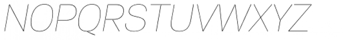 PF Encore Sans Pro UltraThin Italic Font UPPERCASE