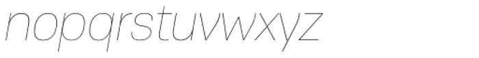 PF Encore Sans Pro UltraThin Italic Font LOWERCASE