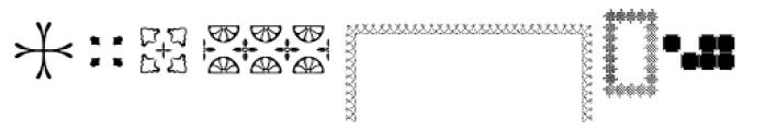 PF Ornm Treasures 1 Layer 2 Font UPPERCASE