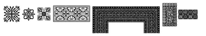 PF Ornm Treasures 1 Regular Font UPPERCASE