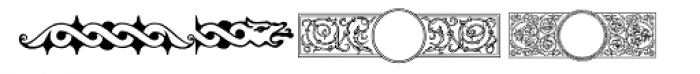 PF Ornm Treasures 1 Regular Font LOWERCASE