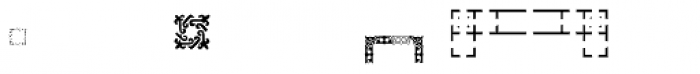 PF Ornm Treasures 2 Layer 5 Font UPPERCASE