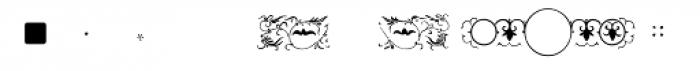 PF Ornm Treasures 2 Layer 5 Font LOWERCASE