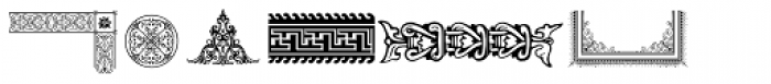 PF Ornm Treasures 3 Regular Font UPPERCASE