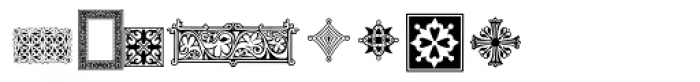 PF Ornm Treasures 3 Regular Font LOWERCASE