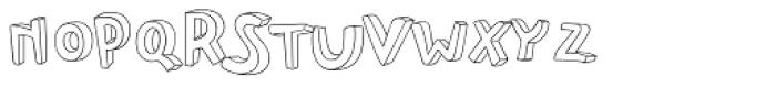 PF Playskool Pro 3-D Outline Font UPPERCASE