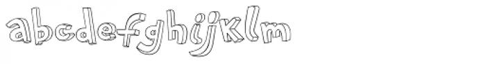 PF Playskool Pro 3-D Outline Font LOWERCASE