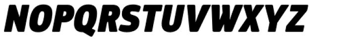 PF Square Sans Cond Pro ExtraBlack Italic Font UPPERCASE