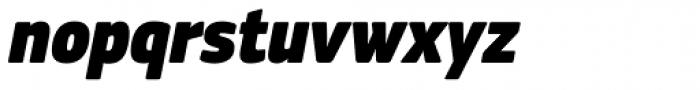PF Square Sans Cond Pro ExtraBlack Italic Font LOWERCASE