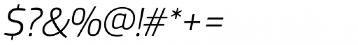 PF Square Sans Pro Light Italic Font OTHER CHARS