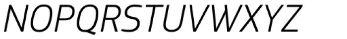 PF Square Sans Pro Light Italic Font UPPERCASE