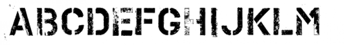 PF Stamps Pro Metal Font LOWERCASE