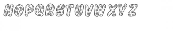 PGSnowflakeScript Font UPPERCASE