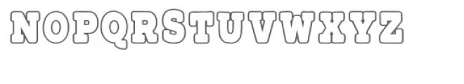 PGSnowflakeSerifInline Font LOWERCASE