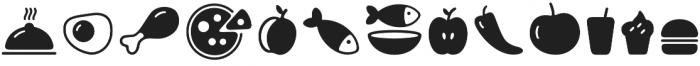 PH Icons Food black otf (900) Font UPPERCASE