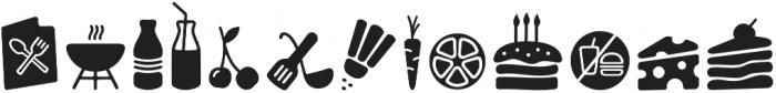 PH Icons Food black otf (900) Font LOWERCASE