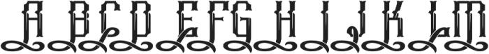 Phoenix Swashes otf (400) Font UPPERCASE