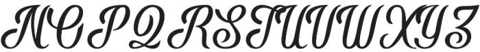 Phyton Script otf (400) Font UPPERCASE