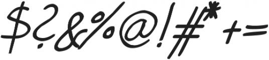 phitradesign Handwritten Bold Italic ttf (700) Font OTHER CHARS
