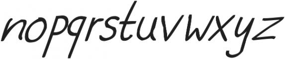 phitradesign Handwritten Bold Italic ttf (700) Font LOWERCASE