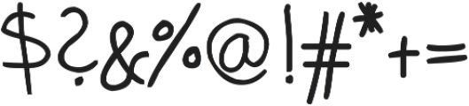 phitradesign Handwritten Bold ttf (700) Font OTHER CHARS
