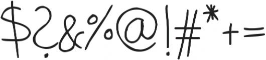 phitradesign Handwritten Thin ttf (100) Font OTHER CHARS