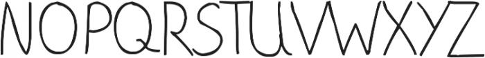 phitradesign Handwritten Thin ttf (100) Font UPPERCASE