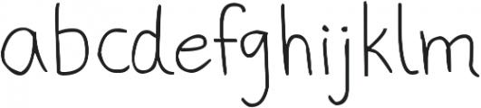 phitradesign Handwritten Thin ttf (100) Font LOWERCASE