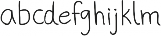 phitradesign Handwritten ttf (400) Font LOWERCASE