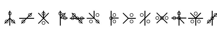 PHOENIX GLYPH Font UPPERCASE
