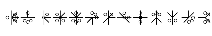 PHOENIX GLYPH Font LOWERCASE