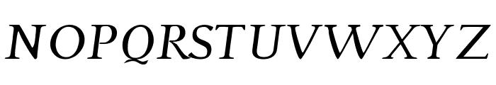 Phaedrus Italic Font UPPERCASE