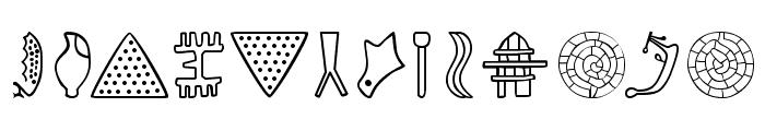 PhaistosAlphabet Font LOWERCASE