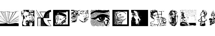 PhantaToons Font LOWERCASE