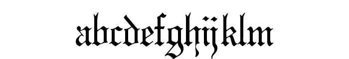Phantasinian Regular Font LOWERCASE