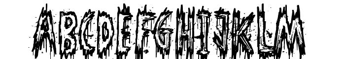 Phantom Ghost Font LOWERCASE