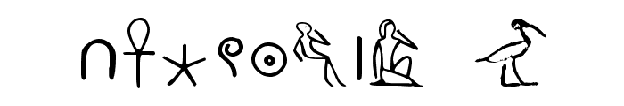PharaohGlyph Medium Font OTHER CHARS